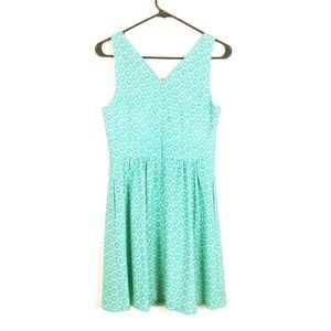 THE LIMITED Turquoise Brocade Sleeveless Dress 0